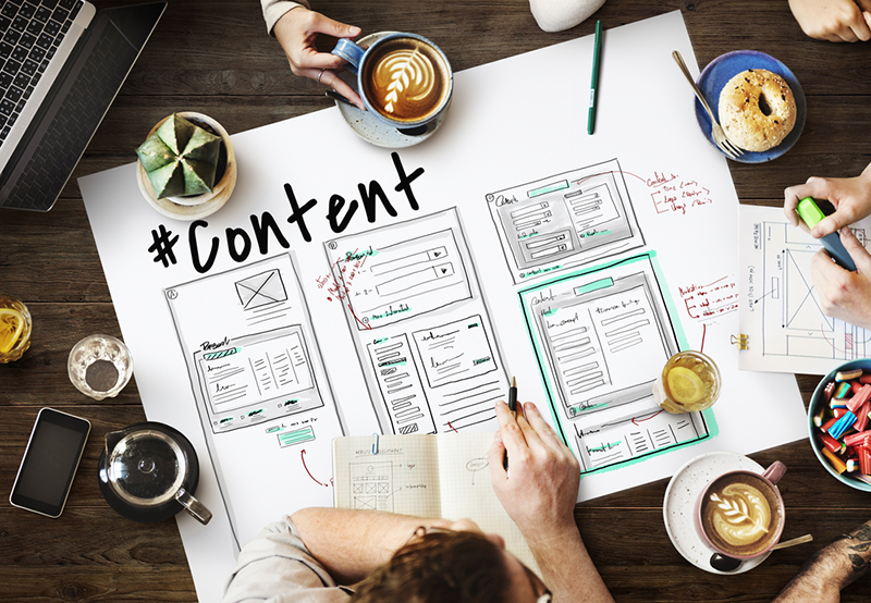 headings and content